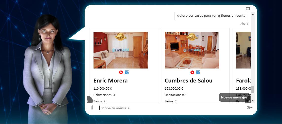 A.I. search propiedades chatbot inmobiliario